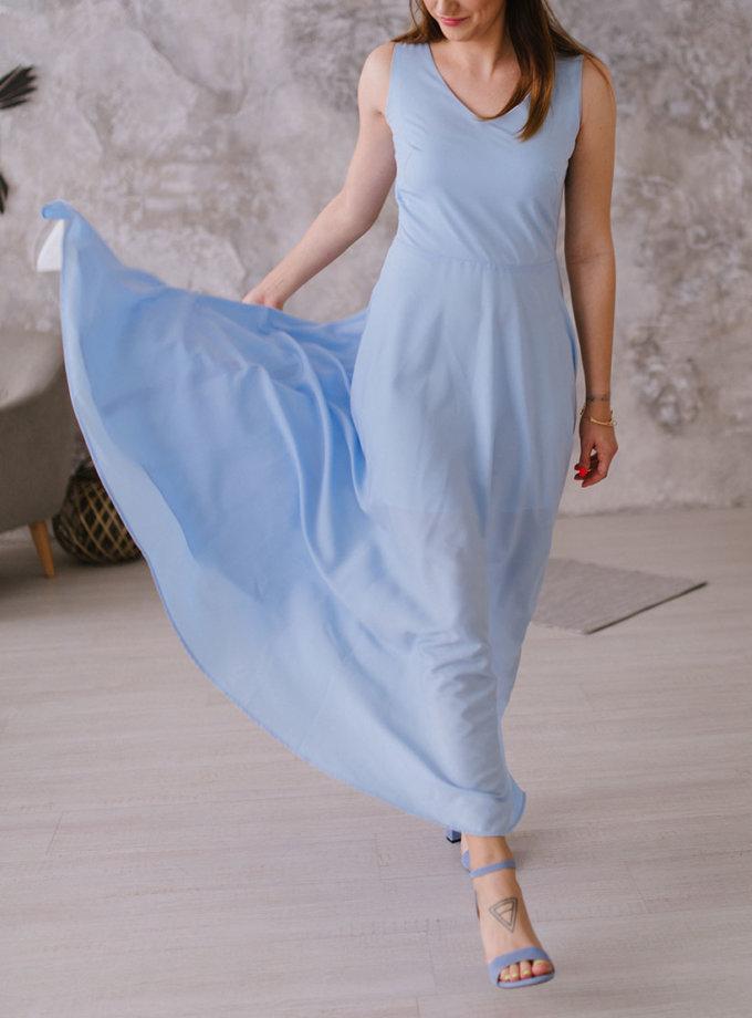 Платье макси на подкладе MNTK_MTDRS1911, фото 1 - в интеренет магазине KAPSULA