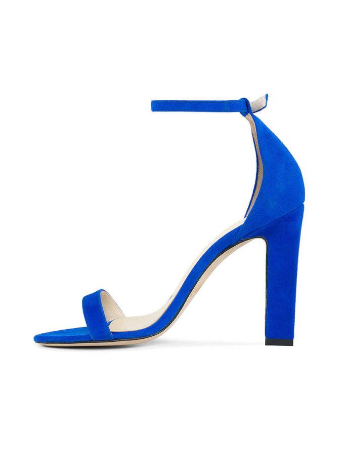 Замшевые босоножки She BLUE MRSL-693696, фото 1 - в интернет магазине KAPSULA