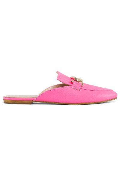 Кожаные мюли Pink MRSL_016015, фото 1 - в интеренет магазине KAPSULA
