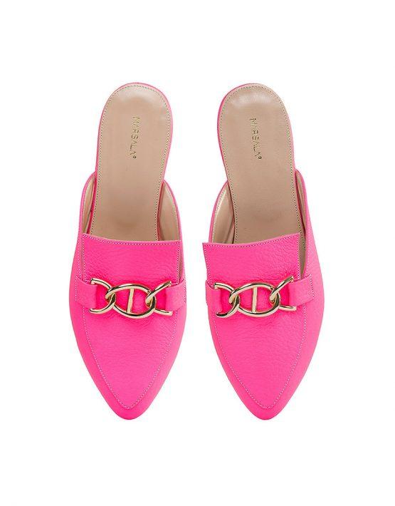 Кожаные мюли Pink MRSL_016015, фото 4 - в интеренет магазине KAPSULA
