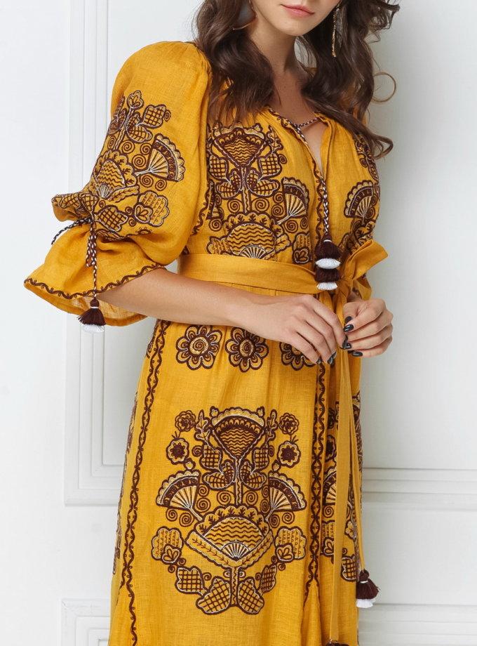 Платье-вышиванка макси FOBERI_ss19003, фото 1 - в интернет магазине KAPSULA
