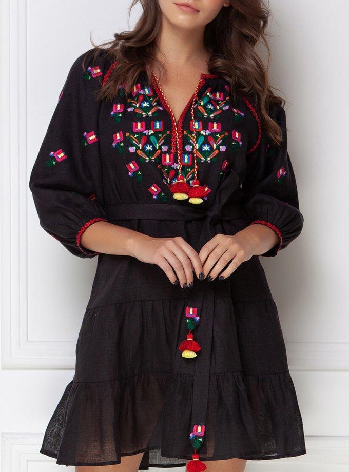 Вышитое платье мини FOBERI_ss19036, фото 1 - в интеренет магазине KAPSULA
