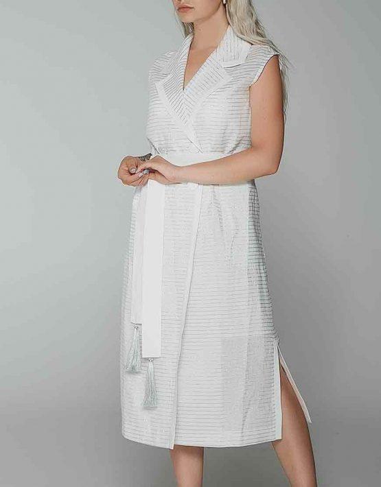 Платье миди в серебряную полоску WNDR_ss19_dss06, фото 10 - в интеренет магазине KAPSULA