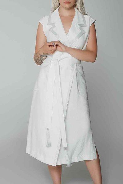 Платье миди с серебряной отделкой WNDR_ss19_dw06, фото 3 - в интеренет магазине KAPSULA