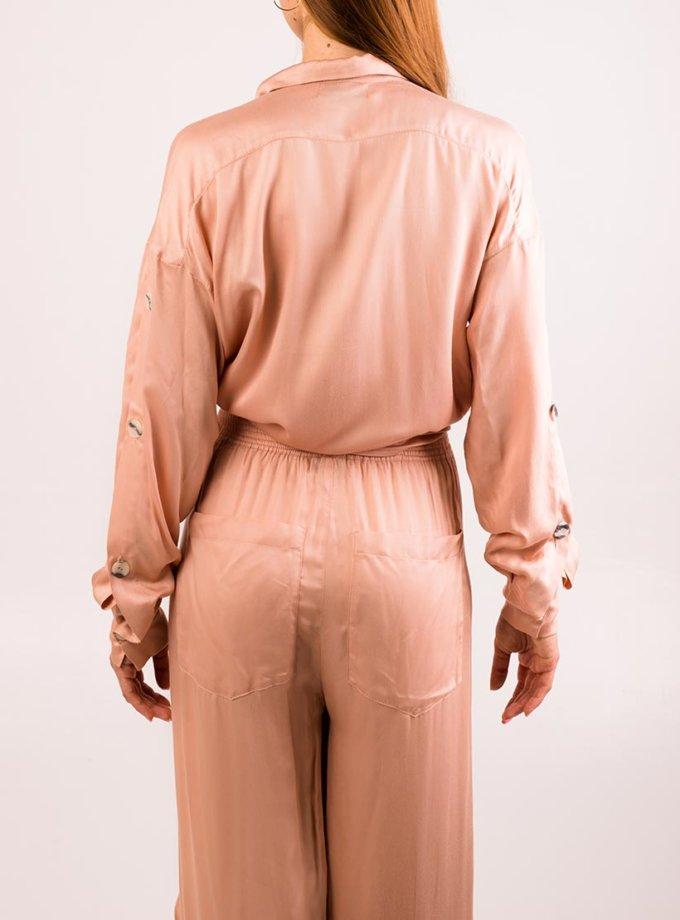 Сатиновый костюм с брюками XM_cruise13, фото 1 - в интеренет магазине KAPSULA