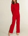 Костюм со штанами в рубчик PINK BTW-SS19-04, фото 4 - в интеренет магазине KAPSULA