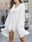 Рубашка свободного кроя в полоску OTS-2-28-whitestripes, фото 5 - в интеренет магазине KAPSULA