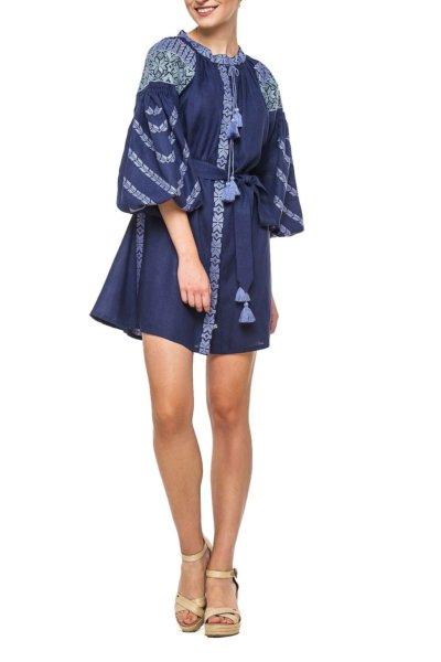 Льняное платье с вышивкой Kolos BZN_D62NKL-32643307, фото 1 - в интеренет магазине KAPSULA