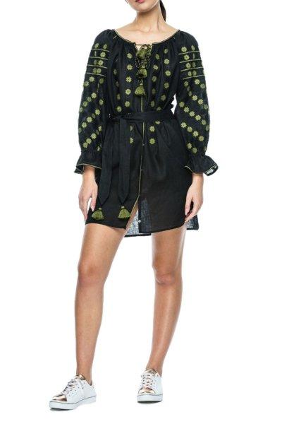 Льняное платье с вышивкой Daisy BZN_T251HDC-10013532, фото 1 - в интеренет магазине KAPSULA