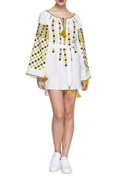 Льняное платье с вышивкой Daisy BZN_T251WDC-10013546, фото 1 - в интеренет магазине KAPSULA