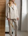 Льняной костюм с укороченными брюками FRBC_01-KBL-white, фото 9 - в интеренет магазине KAPSULA