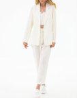 Льняной костюм с укороченными брюками FRBC_01-KBL-beige, фото 5 - в интеренет магазине KAPSULA