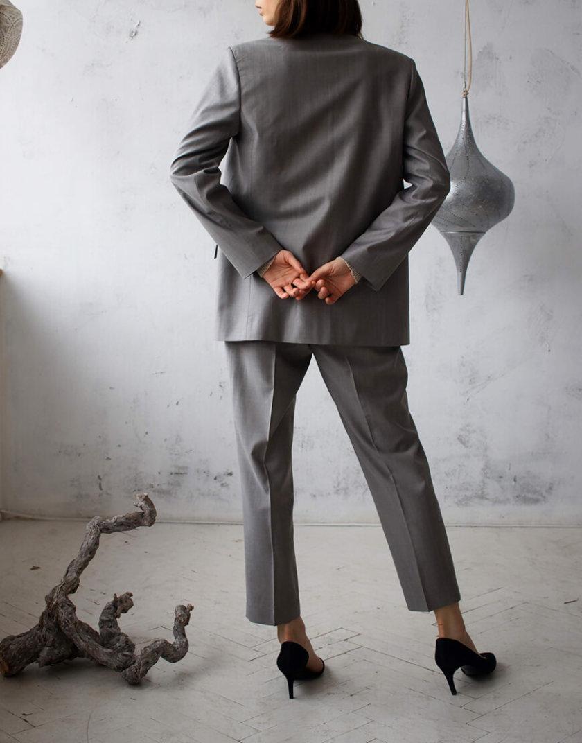 Костюм из шерсти с поясом NBL_01-KBSH-grey_outlet, фото 1 - в интернет магазине KAPSULA