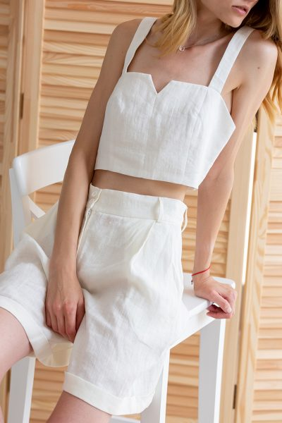 Льняной костюм с шортами NBL_02-KSHTL, фото 1 - в интеренет магазине KAPSULA