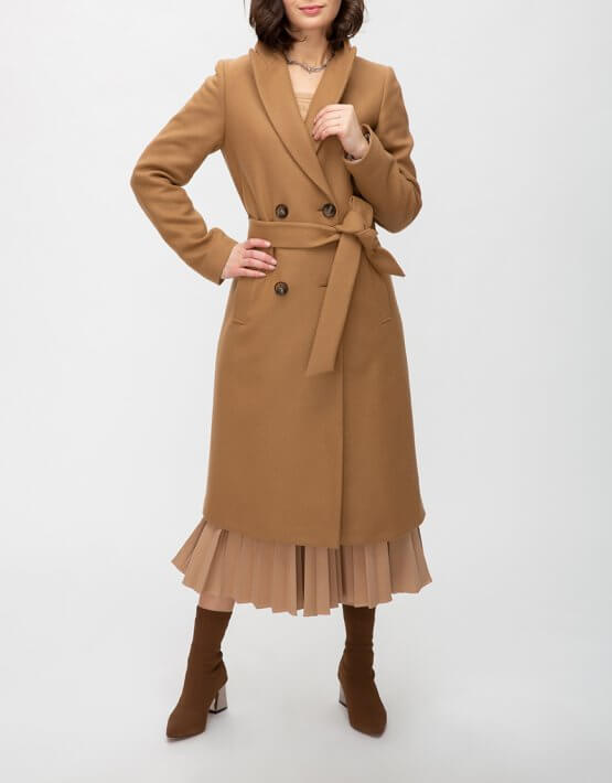 Шерстяное пальто с поясом TRC_MZ39ATTRLF47, фото 7 - в интеренет магазине KAPSULA