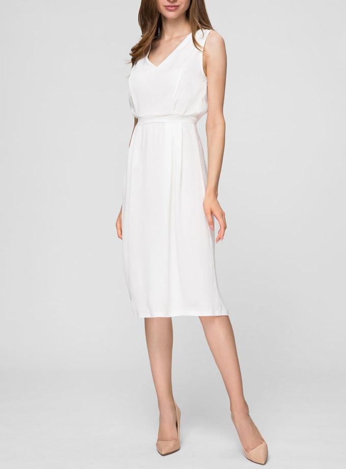 Легкое платье с V-вырезом MIN_SS1901, фото 1 - в интернет магазине KAPSULA