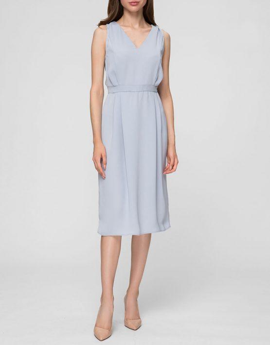 Легкое платье с V-вырезом MIN_SS1903, фото 4 - в интеренет магазине KAPSULA