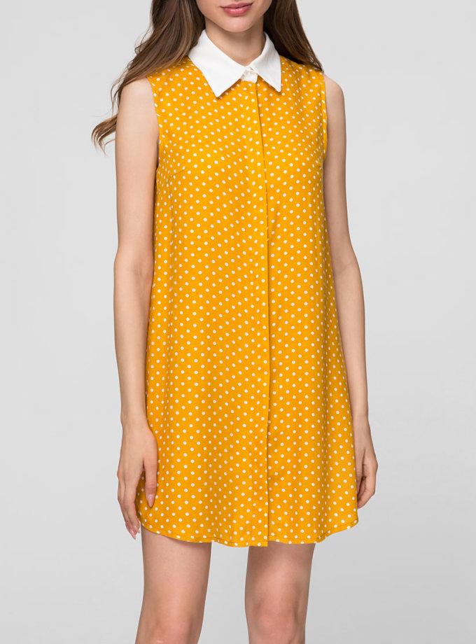 Платье-рубашка с контрастным воротником MIN_SS1908, фото 1 - в интеренет магазине KAPSULA