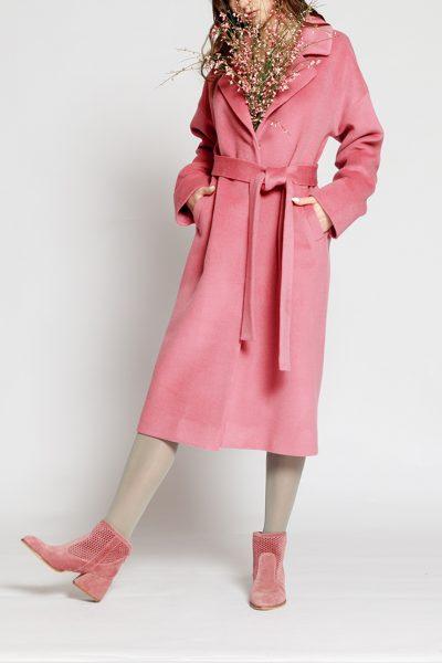 Пальто из шерсти на подкладе MMT_024.-pink, фото 1 - в интеренет магазине KAPSULA