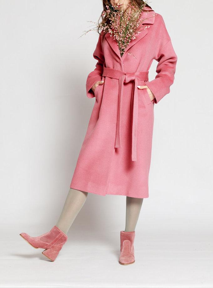 Пальто из шерсти на подкладе MMT_024.-pink, фото 1 - в интернет магазине KAPSULA