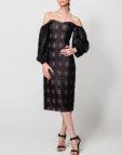 Прозрачное платье мини из органзы NLN_AI3708-1, фото 3 - в интеренет магазине KAPSULA