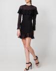 Платье мини на запах с чокером NLN_AI3721, фото 3 - в интеренет магазине KAPSULA