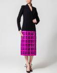 Платье миди из жаккарда NLN_AI3713, фото 3 - в интеренет магазине KAPSULA