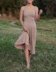 Платье с декольте-каре pink OTS_1902-pink, фото 2 - в интеренет магазине KAPSULA
