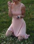 Платье с декольте-каре beige OTS_1902-beige, фото 4 - в интеренет магазине KAPSULA