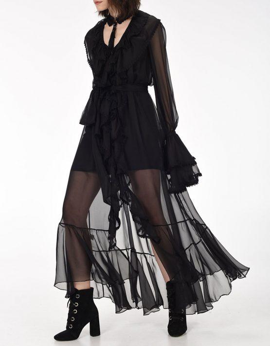 Платье макси Ocean of Tenderness OTS_2-01-black, фото 8 - в интеренет магазине KAPSULA