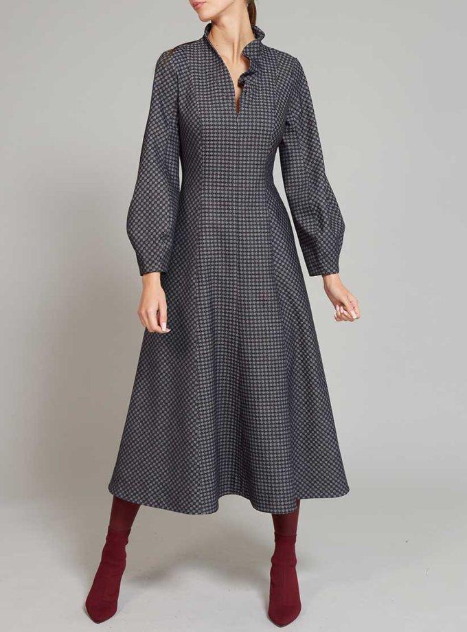 Платье на подкладе с воланом VONA_FW-19-20-06, фото 1 - в интернет магазине KAPSULA