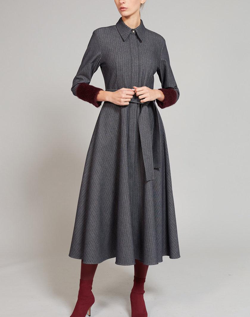 Платье на подкладе с шерстью альпаки VONA_FW-19-20-08, фото 1 - в интернет магазине KAPSULA