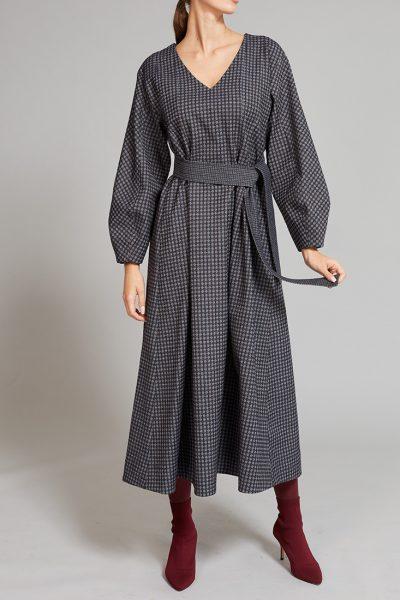 Платье прямого кроя с объемными рукавами VONA_FW-19-20-18, фото 1 - в интеренет магазине KAPSULA