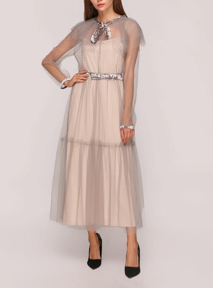 Двухслойное платье миди AY_2811, фото 1 - в интернет магазине KAPSULA