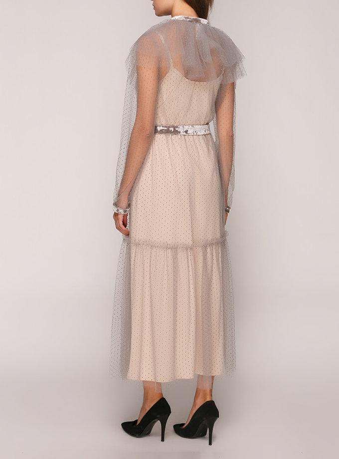 Двухслойное платье миди AY_2811, фото 1 - в интеренет магазине KAPSULA