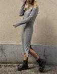 Вязаный костюм в рубчик BTW-Fall19-9, фото 3 - в интеренет магазине KAPSULA
