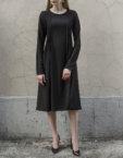 Платье миди  с защипами BTW-Fall19-15, фото 3 - в интеренет магазине KAPSULA