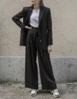 Широкие брюки с защипами BTW-Fall19-3, фото 3 - в интеренет магазине KAPSULA