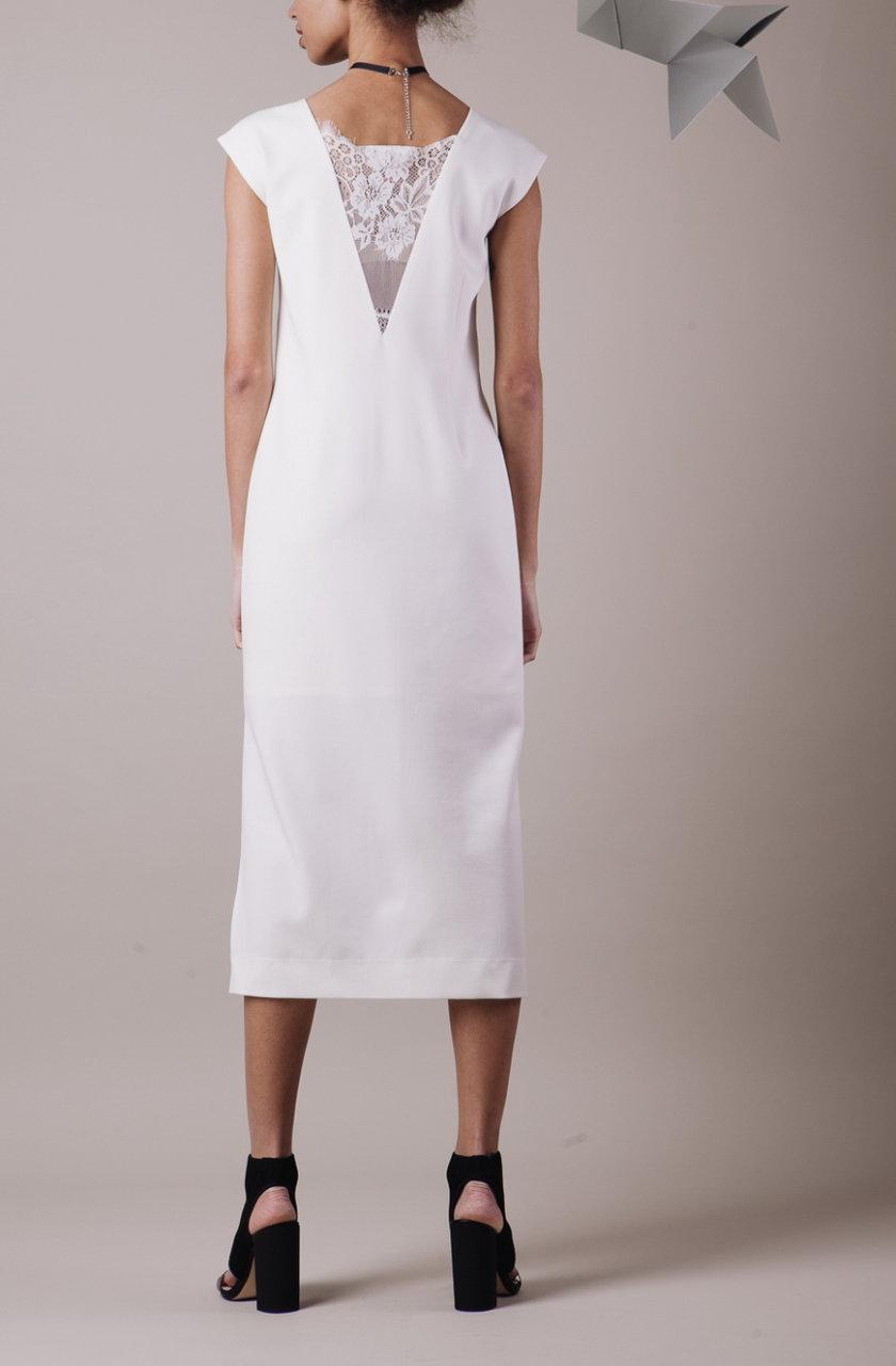 Платье миди с кружевом MMT_013., фото 1 - в интернет магазине KAPSULA