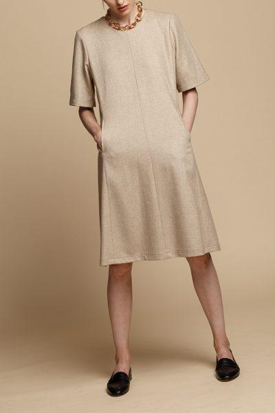 Шерстяное платье-трапеция INS_FW1920_11_01, фото 3 - в интеренет магазине KAPSULA