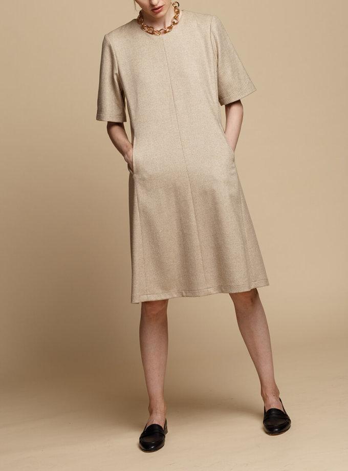 Шерстяное платье-трапеция INS_FW1920_11_01, фото 1 - в интеренет магазине KAPSULA