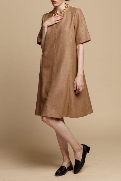 Шерстяное платье-трапеция INS_FW1920_11_02, фото 1 - в интеренет магазине KAPSULA