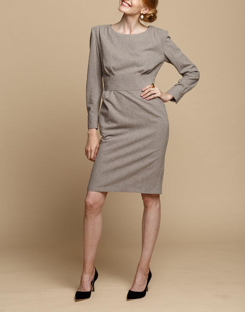 Платье-футляр из шерсти INS_FW1920_12_01, фото 1 - в интернет магазине KAPSULA