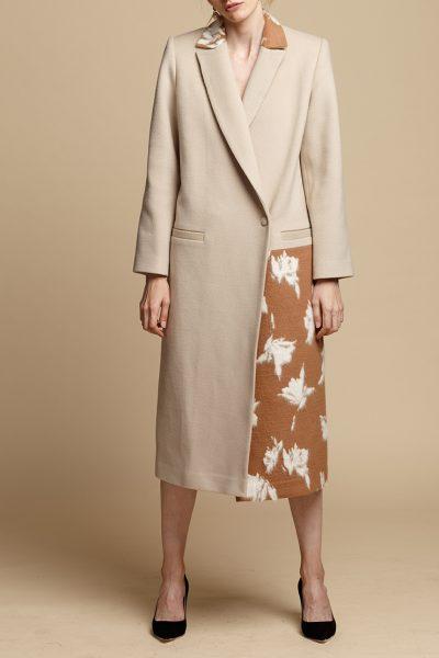 Пальто прямого силуэта из шерсти INS_FW1920_2_01, фото 1 - в интеренет магазине KAPSULA