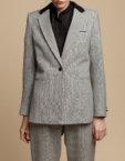 Трикотажная блуза с вырезом KS_F-W-21-02, фото 4 - в интеренет магазине KAPSULA