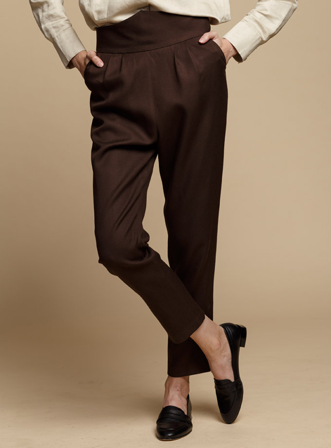 Зауженные брюки из шерсти INS_FW1920_4_01, фото 1 - в интеренет магазине KAPSULA