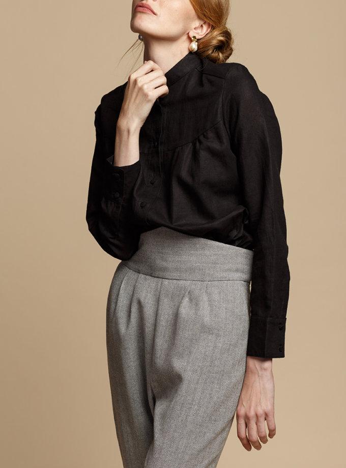 Льняная блуза на пуговицах INS_FW1920_9_01, фото 1 - в интернет магазине KAPSULA