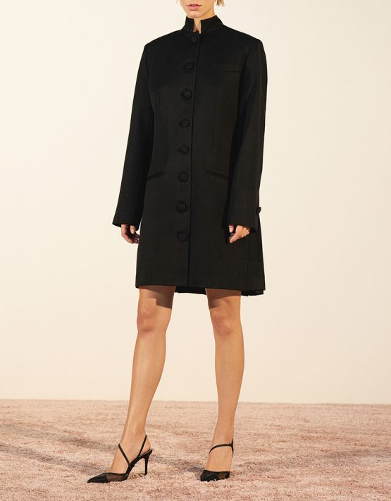 Платье-жакет со складками из шерсти IRRO_IR_PF19_BD_012, фото 2 - в интеренет магазине KAPSULA