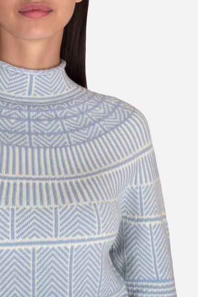 Mериносовый бесшовный свитер JND_19-010312-blue, фото 4 - в интеренет магазине KAPSULA