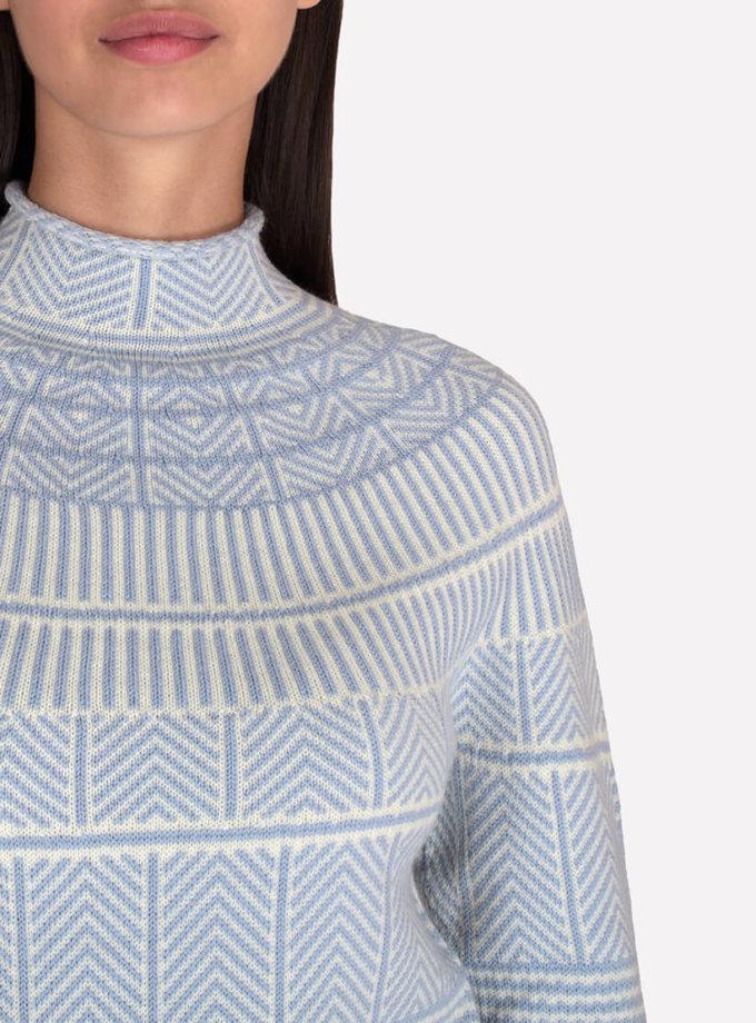 Mериносовый бесшовный свитер JND_19-010312-blue, фото 1 - в интернет магазине KAPSULA